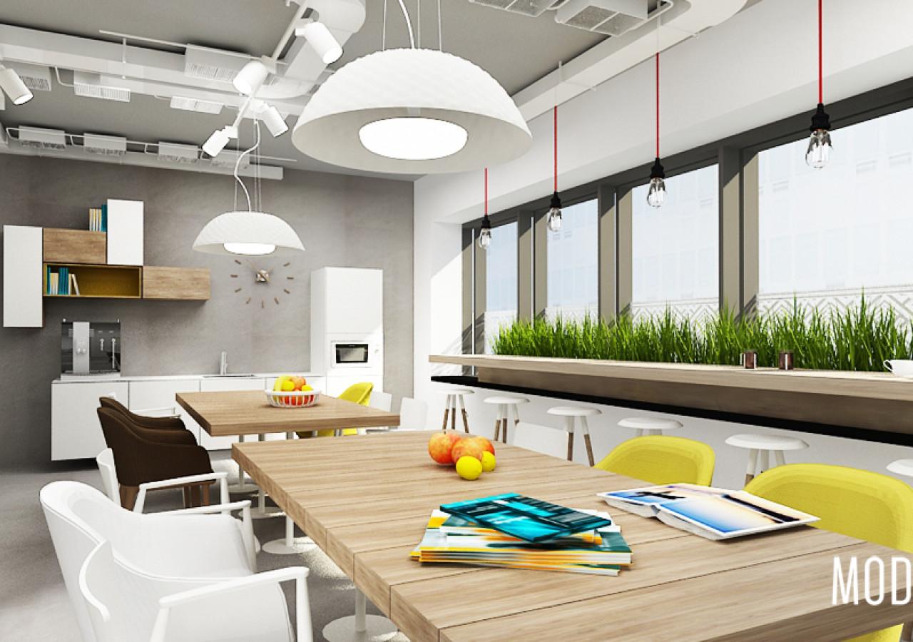 Sanofi Aventis Projekt Biura W Warszawie Strefa Kuchni