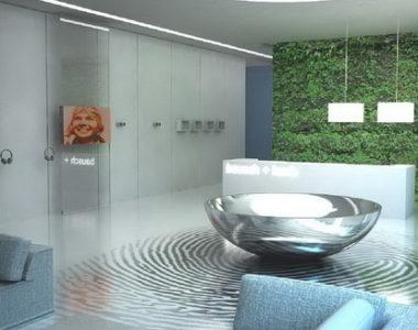 Projekt nowoczesnego biura Bausch+Lomb w Warszawie