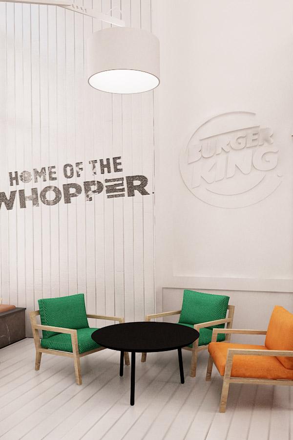 Koncept sieci restauracji Burger King