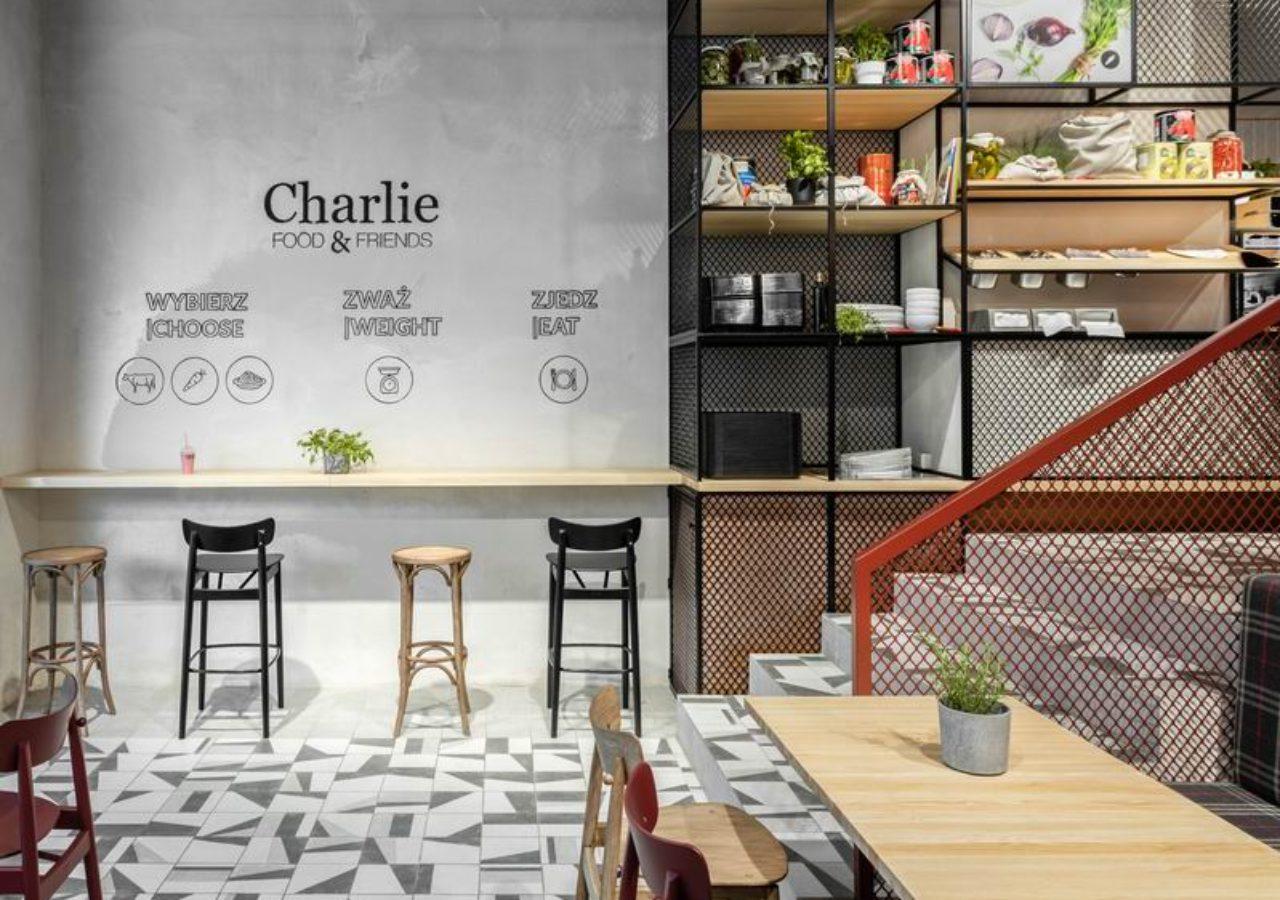 projekty restauracji Charlie Food&Friends