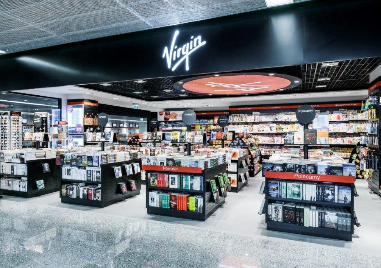 VIRGIN on Warsaw Airport – design of Virgin store in Europe